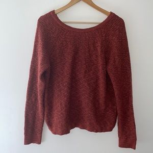 aerie Open Knotted Back Pullover Sweater